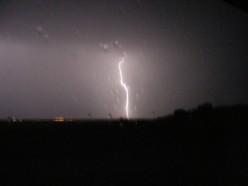 What happens when lightening strikes an airplane