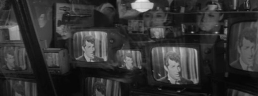 Dean Martin on TV's in a television store window