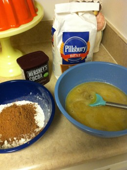 Cocoa Powder with flour.