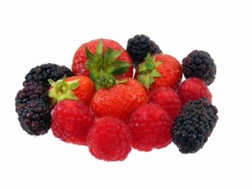 Berries contain flavorful antioxidants