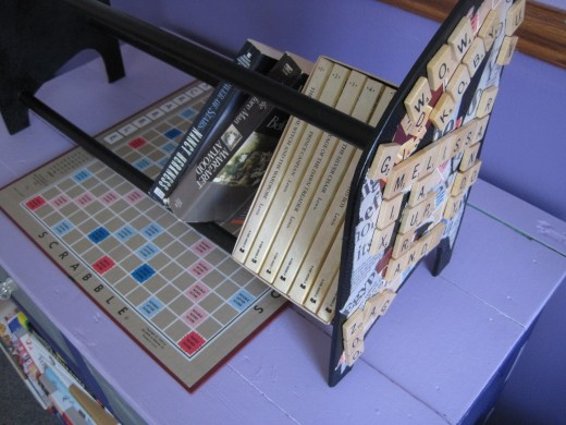 Scrabble Book Rack