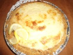 Lemon Cake Pie with Lemon Graham Cracker Crust