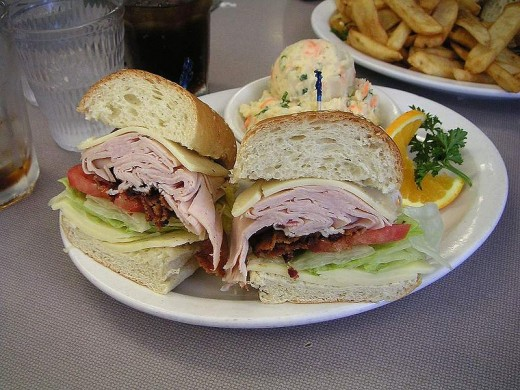 A great cold sandwich on a hot summer day is a perfect lunch.