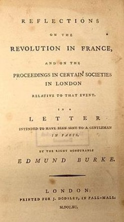 "In a Passion: Edmund Burke's ""Reflections on the Revolution in France"""