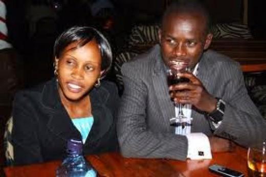 Samuel Wanjiru and his Wife