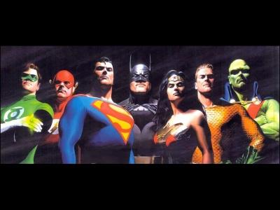 Justice League! Art by Alex Ross
