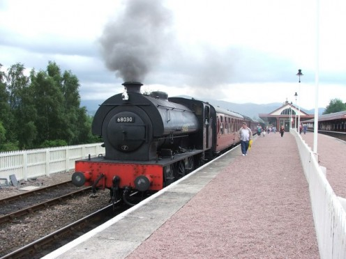 Strathspey Steam Railway.  Taking a trip on one of these old steam trains is like stepping back in time.
