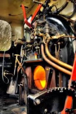 Steam locomotive cab on the E&BAR