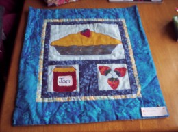 This is a wall hanging I made a few years ago; it is on display (and still for sale) at a local shop.