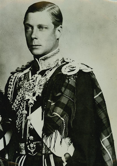 King Edward VIII. This photograph was taken when he was still Prince of Wales