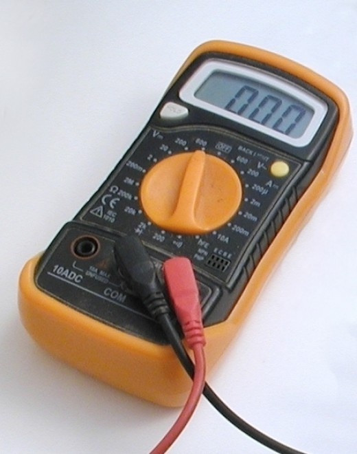Measuring Electrical Equipments : How to use a multimeter measure voltage current and