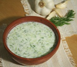 Tarator (A Traditional Bulgarian Cold Summer Soup With Yogurt, Water, Cucumber, Salt That Could Also Be A Drink)