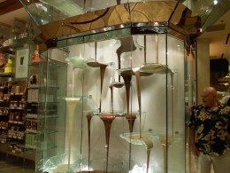 Worlds's largest chocolate fountain standing at 27 feet tall.