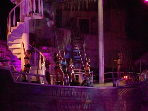 Sirens of TI.  Free Show every night outside of Treasure Island.