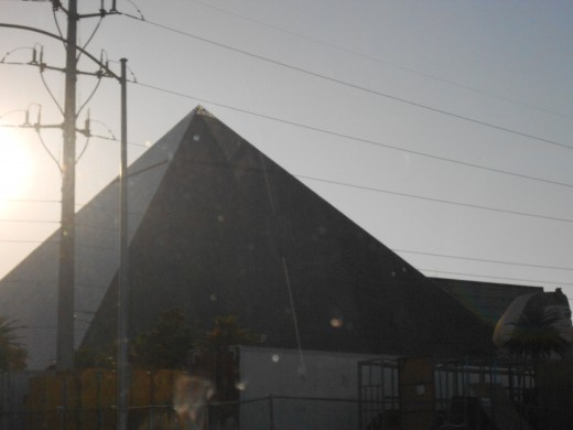 Luxor. The light comes straight out of the top.