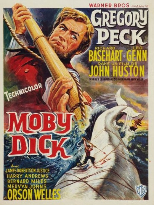 Moby Dick (1956) Belgian poster