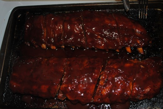 Baby Back Ribs With Homemade BBQ Sauce