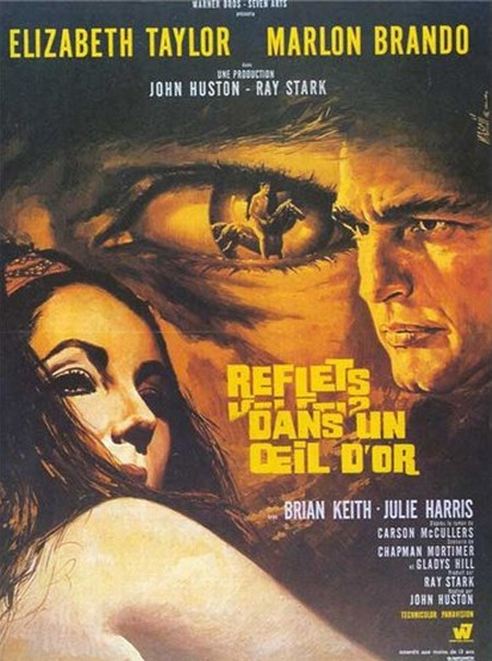 Reflections in a Golden Eye (1967) French poster