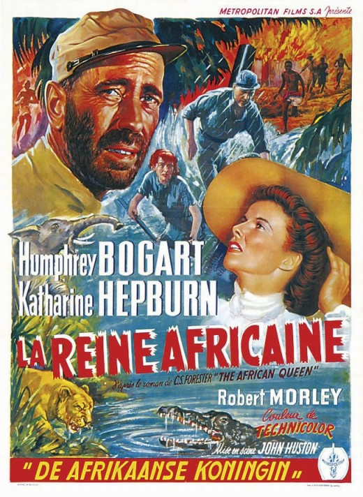 The African Queen (1951) Belgian poster