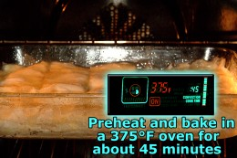 Preheat oven to 375°F and bake custard.