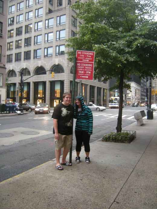 "If you have teenagers, walk along the street to get the snarky ""No Standing"" photo!"