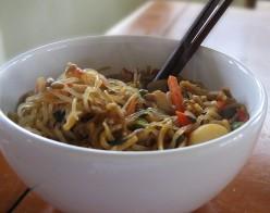 Shirataki Noodle Dish