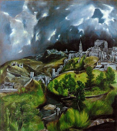 View of Toledo, by Spanish Renaissance painter,  El Greco, depicting his adopted home in Spain.