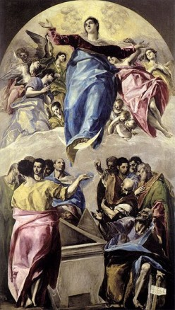 The Assumption of the Virgin, painted by El Greco.