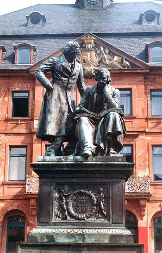 Statue of the Brothers Grimm.