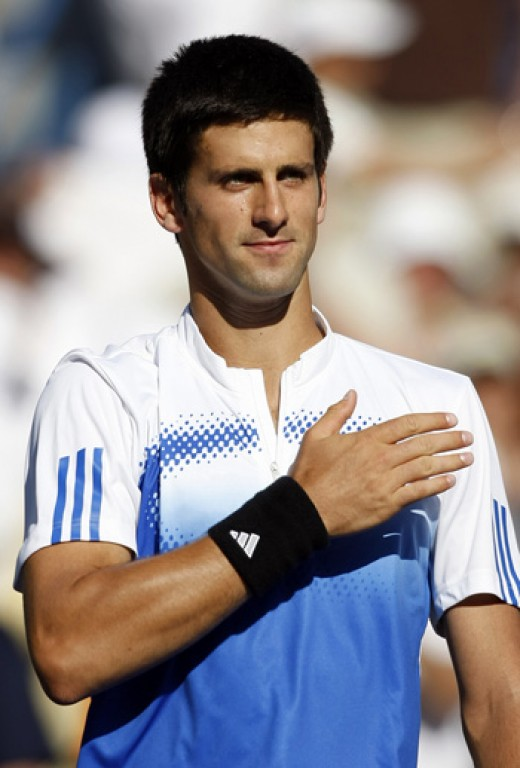 Novak Djokovic, always represents Serbia in it's best.