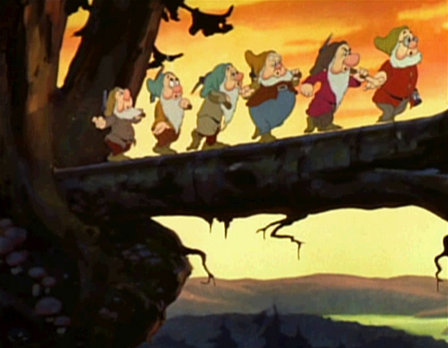 "The famous ""Heigh-Ho"" sequence from Snow White and the Seven Dwarfs, animated by Shamus Culhane"