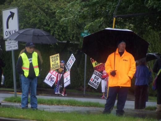Westboro Baptist picketeers