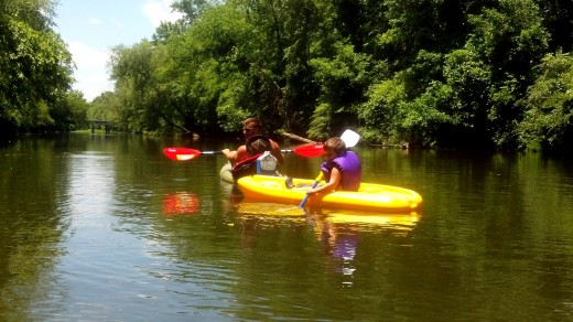 Our family kayaking trip on the Duck River.