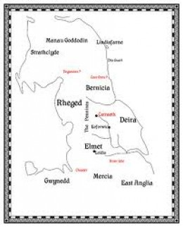 Early 'ethnic' regions of Britain - not yet England as such, but the new immigrants were 'working on it'