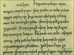 Detail entry of the Chronicle, showing script style