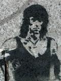 John Rambo graffiti