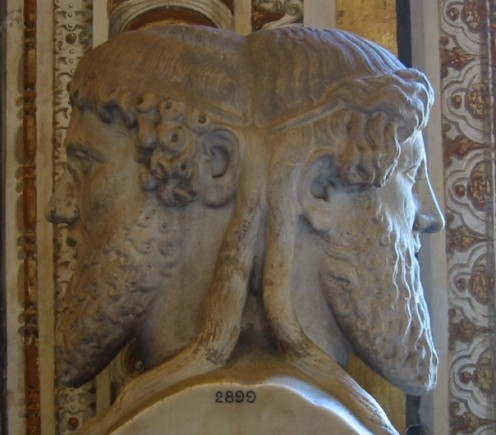 The Roman two-faced god, Janus