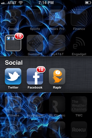 Tap the Facebook app on your device's screen.