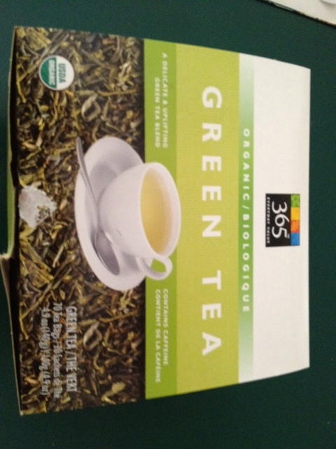 The Organic Green Tea I buy from Whole Foods