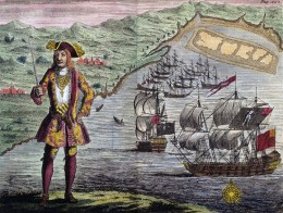 Captain Bartho. Roberts with two Ships, Viz the Royal Fortune and Ranger, takes in Sail in Whydah Road on the Coast of Guiney, January 11th. 1721