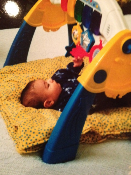 Give baby plenty of playtime on the floor. It helps stimulate physical and mental growth. (source: teaches12345)