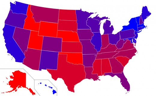 Average Of Last 5 Presidential Elections