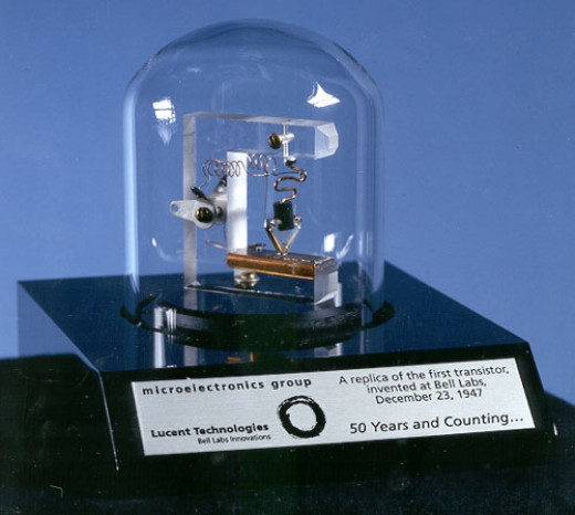 A replica of the first working transistor