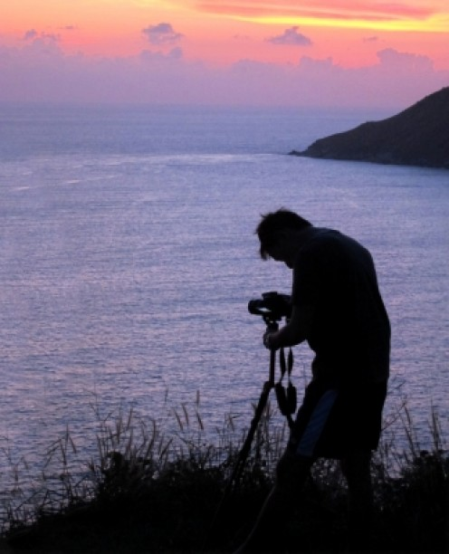 Taking Photographs at Sunset