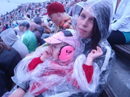 Me and my daughter on a rainy Bon Jovi concert in Helsinki, Finland in 2011. No Finnish singer would be able to fill the Olympic Arena in Helsinki like Bon Jovi did. There were 40,000 people in the audience. Amazing feeling!