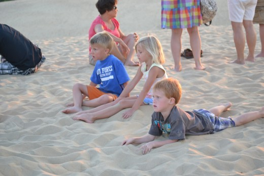 Kids listening to the ranger at Jockey's Ridge State Park
