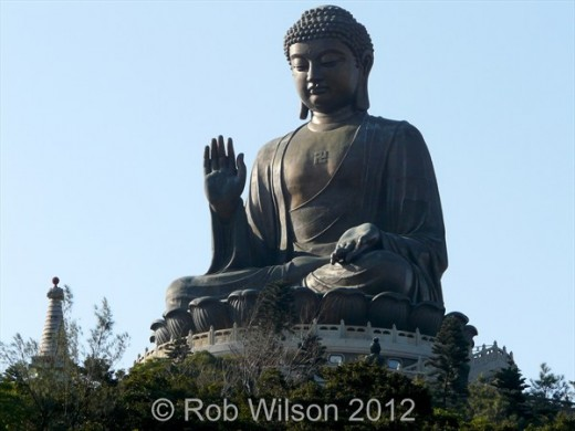 The Tian Tan or Big Buddha, near Tung Chung, on Lantau Island, is one of Hong Kong's best and most popular tourist attractions.