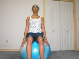 Starting off with the right balance is key to protecting yourself from injury on your exercise ball.
