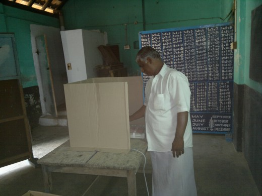 A citizen casting a vote