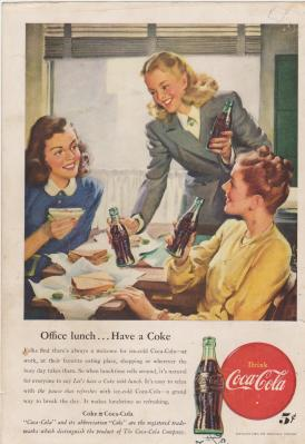 1947 Coca-Cola Vintage Print Ad